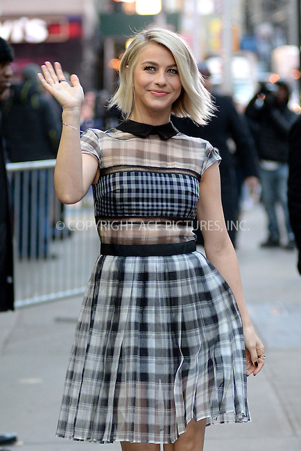 WWW.ACEPIXS.COM<br /> March 13, 2015 New York City<br /> <br /> Julianne Hough arriving to Good Morning America on March 13, 2015 in New York City.<br /> <br /> Please byline: Kristin Callahan/AcePictures<br /> <br /> ACEPIXS.COM<br /> <br /> Tel: 646 769 0430<br /> e-mail: info@acepixs.com<br /> web: http://www.acepixs.com