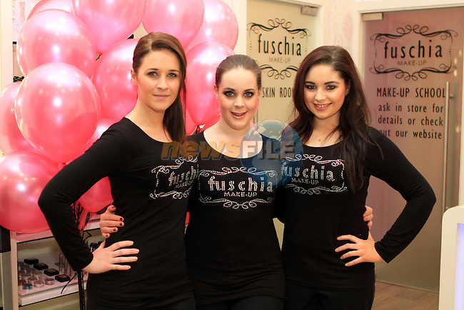 Lyndsey Barnwell, Juliet Morrow and Dawn Finnegan in Fuschia, Scotch Hall...(Photo credit should read Jenny Matthews www.newsfile.ie)....