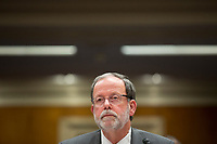 Director of the Congressional Budget Office Keith Hall testifies before the US Senate Subcommittee on Legislative Branch on Capitol Hill in Washington DC on April 10, 2019.<br /> Credit: Stefani Reynolds / CNP/AdMedia