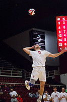 STANFORD, CA - January 5, 2019: Paul Bischoff at Maples Pavilion. The Stanford Cardinal defeated UC Santa Cruz 25-11, 25-17, 25-15.