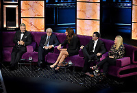 """BEVERLY HILLS - SEPTEMBER 7: Alec Baldwin, Robert De Niro, Caitlyn Jenner, Adam Carolla , and Caroline Rhea appear onstage at the """"Comedy Central Roast of Alec Baldwin"""" at the Saban Theatre on September 7, 2019 in Beverly Hills, California. (Photo by Frank Micelotta/PictureGroup)"""