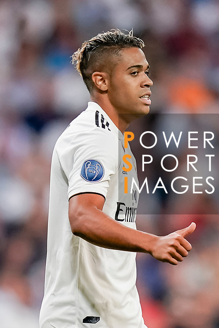 Mariano Diaz Mejia of Real Madrid gestures during the UEFA Champions League 2018-19 match between Real Madrid and Roma at Estadio Santiago Bernabeu on September 19 2018 in Madrid, Spain. Photo by Diego Souto / Power Sport Images