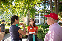 Admission tour of the Occidental College campus, led by Jade Thurnham '20, on July 13, 2018.<br /> (Photo by Marc Campos, Occidental College Photographer)