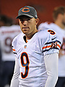 CLEVELAND, OH - SEPTEMBER 1, 2016: Kicker Robbie Gould #9 of the Chicago Bears stands on the sideline in the fourth quarter of a game on September 1, 2016 against the Cleveland Browns at FirstEnergy Stadium in Cleveland, Ohio. Chicago won 21-7. (Photo by: 2016 Nick Cammett/Diamond Images)  *** Local Caption *** Robbie Gould