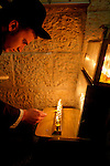 Israel, Jerusalem Old City, Lighting the Hanukkah candles at the Jewish quarter 2005<br />