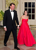 Marvin Nicholson, Special Assistant to the President, Trip Director &amp; Personal Aide to the President, and Helen Pajcic arrive for the State Dinner in honor of Prime Minister Trudeau and Mrs. Sophie Gr&eacute;goire Trudeau of Canada at the White House in Washington, DC on Thursday, March 10, 2016.<br /> Credit: Ron Sachs / Pool via CNP
