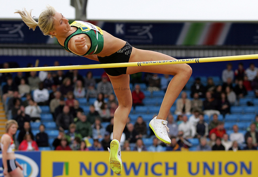 Photo: Paul Thomas/Richard Lane Photography..Norwich Union World Trials and AAA Championships. 28/07/2007...Stephanie Pywell during the women's high jump.