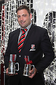 Steelers Most Improved and Defence Player of the Year Sean Bagshaw. Counties Manukau Rugby Unions Senior Prize giving held at ECOLight Stadium Pukekohe on Wednesday November 2nd, 2016.<br /> Photo by Richard Spranger.