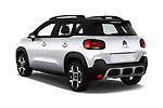 Car pictures of rear three quarter view of a 2018 Citroen C3 Aircross Shine 5 Door SUV angular rear