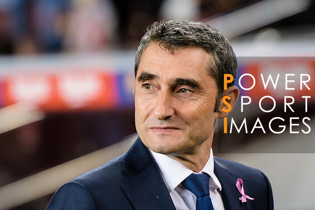 Ernesto Valverde FC Barcelona head coach during the La Liga 2018-19 match between FC Barcelona and Sevilla FC at Camp Nou Stadium on October 20 2018 in Barcelona, Spain. Photo by Vicens Gimenez / Power Sport Images