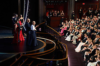 Julia Reichert, Seeven Bognar, and Jeff Reichert accept the Oscar® for Documentary Feature during the live ABC Telecast of The 92nd Oscars® at the Dolby® Theatre in Hollywood, CA on Sunday, February 9, 2020.<br /> *Editorial Use Only*<br /> CAP/AMPAS<br /> Supplied by Capital Pictures