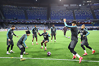 24th February 2020; Stadio San Paolo, Naples, Campania, Italy; UEFA Champions League Football, Napoli versus Barcelona, Barcelona training Antoine Griezmann of Barcelona