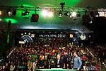 07.01.2018, Deutsches Fu&szlig;ballmuseum, Dortmund, GER, Auslosung DFB Pokal Viertelfinale, , <br /> <br /> im Bild | picture shows<br /> vl.Jessy Willmer (Moderatorin), Horst Hrubesch (ehemaliger U21 Nationaltrainer), Oliver Roggisch (Teammanager Deutsche Handballnationalmannschaft) mit dem Publikum, <br /> <br /> Foto &copy; nordphoto / Rauch
