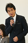 Takeshi Natsuno, SEPTEMBER 29, 2015 : The first meeting of the Tokyo 2020 Emblems Selection Committee is held in Tokyo, Japan. This committee initiated the selection of the new Olympic and Paralympic Games emblems. (Photo by Yohei Osada/AFLO SPORT)