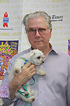 """John Larroquette stars in How To Succeed in Business WIthout Really Trying attends Broadway Barks Lucky 13th Annual Adopt-a-thon - A """"Pawpular"""" Star-studded dog and cat adopt-a-thon on July 9, 2011 in Shubert Alley, New York City, New York with Bernadette Peters and Mary Tyler Moore as hosts.  (Photo by Sue Coflin/Max Photos)"""
