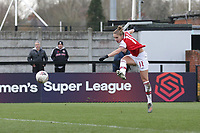 Vivianne Miedema of Arsenal scores the tenth goal for her team and completes a double hat-trick during Arsenal Women vs Bristol City Women, Barclays FA Women's Super League Football at Meadow Park on 1st December 2019