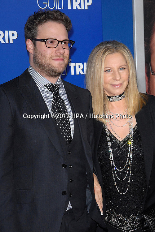 LOS ANGELES - DEC 11:  Seth Rogen, Barbra Streisand arrives to 'The Guilt Trip' premiere at Village Theater on December 11, 2012 in Westwood, CA