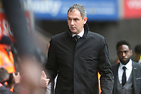 Swansea City manager Paul Clement prior to kick off of the Premier League match between Swansea City and Leicester City at The Liberty Stadium, Swansea, Wales, UK. Saturday 21 October 2017