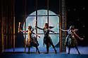 London, UK. 07.12.2012. MATTHEW BOURNE'S SLEEPING BEAUTY: A GOTHIC FAIRYTALE premieres at Sadler's Wells. Mari Kamata, Joe Walkling, Kate Lyons in Act I: The Fairies Visit Baby Aurora. Photo credit: Jane Hobson.