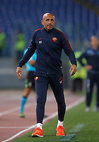 Calcio, Serie A: Roma, stadio Olimpico, 21 settembre 2016.<br /> Roma's coach Luciano Spalletti follows the game during the Serie A soccer match between Roma and Crotone at Rome's Olympic stadium, 21 September 2016. Roma won 4-0.<br /> UPDATE IMAGES PRESS/Isabella Bonotto