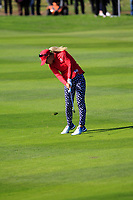Danielle Kang Team USA on the 7th fairway during Day 1 Fourball at the Solheim Cup 2019, Gleneagles Golf CLub, Auchterarder, Perthshire, Scotland. 13/09/2019.<br /> Picture Thos Caffrey / Golffile.ie<br /> <br /> All photo usage must carry mandatory copyright credit (© Golffile | Thos Caffrey)