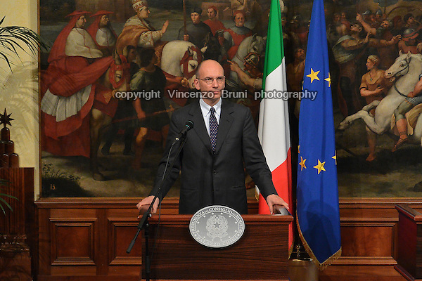 Enrico Letta, Prime Minister of Italy from April 2013  to February 2014.