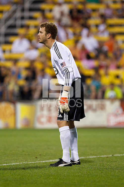 26 JUNE 2010:  William Hesmer of the Columbus Crew (1) during MLS soccer game between DC United vs Columbus Crew at Crew Stadium in Columbus, Ohio on May 29, 2010. The Crew defeated DC United 2-0.