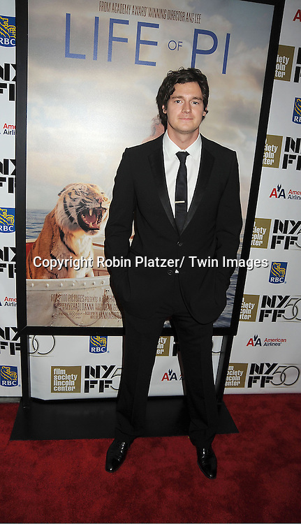 "actor Benjamin Walker attends the 50th Annual New York Film Festival Opening Night Gala presentation of ""Life of Pi"" starring Suraj Sharma and directored by Ang Lee on September 28, 2012 in New York City. The screening was at Alice Tully Hall at Lincoln Center."
