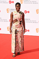 Clara Amfo arriving for the BAFTA TV Awards 2018 at the Royal Festival Hall, London, UK. <br /> 13 May  2018<br /> Picture: Steve Vas/Featureflash/SilverHub 0208 004 5359 sales@silverhubmedia.com