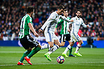 Cristiano Ronaldo of Real Madrid in action  during the match of Spanish La Liga between Real Madrid and Real Betis at  Santiago Bernabeu Stadium in Madrid, Spain. March 12, 2017. (ALTERPHOTOS / Rodrigo Jimenez)