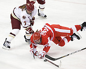 Dru Burns (BC - 7), Jill Cardella (BU - 22) - The Boston College Eagles defeated the Boston University Terriers 2-1 in the opening round of the Beanpot on Tuesday, February 8, 2011, at Conte Forum in Chestnut Hill, Massachusetts.