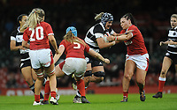 Eloise Blackwell of Barbarians is tackled by Amy Evans of Wales<br /> <br /> Photographer Ian Cook/CameraSport<br /> <br /> 2019 Autumn Internationals - Wales Women v Barbarians Women - Saturday 30th November 2019 - Principality Stadium - Cardifff<br /> <br /> World Copyright © 2019 CameraSport. All rights reserved. 43 Linden Ave. Countesthorpe. Leicester. England. LE8 5PG - Tel: +44 (0) 116 277 4147 - admin@camerasport.com - www.camerasport.com