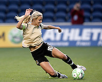 FC Gold Pride midfielder Leslie Osborne (10) clears the ball.  The defeated the FC Gold Pride defeated the Chicago Red Stars 1-0 at Toyota Park in Bridgeview, IL on May 16, 2009.