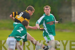 Austin Stacks Ciaran O'Connell and Na Gaeil's Darragh Sheehy.