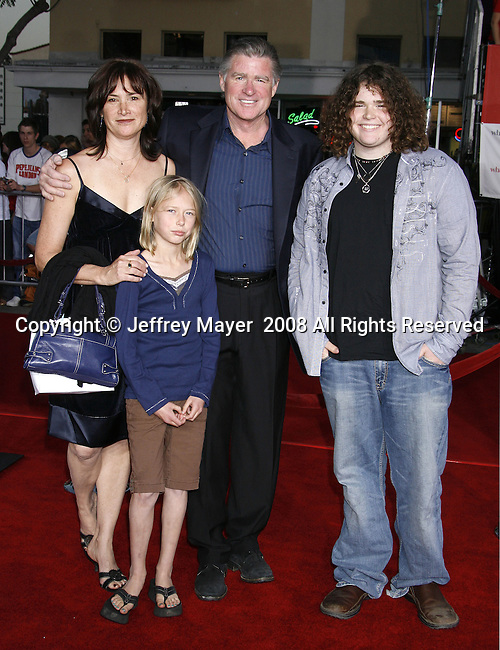 """Actor Treat Williams and family arrive at the Premiere Of Fox's """"What Happens In Vegas"""" on May 1, 2008 at the Mann Village Theatre in Los Angeles, California."""