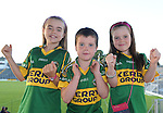 Kerry football fans Shonagh (8), Luke (5) and Rachel Griffin (7), Ballymac, are looking forward to the All Ireland semi-final against Dublin on Sunday.  Picture: Eamonn Keogh (MacMonagle, Killarney)