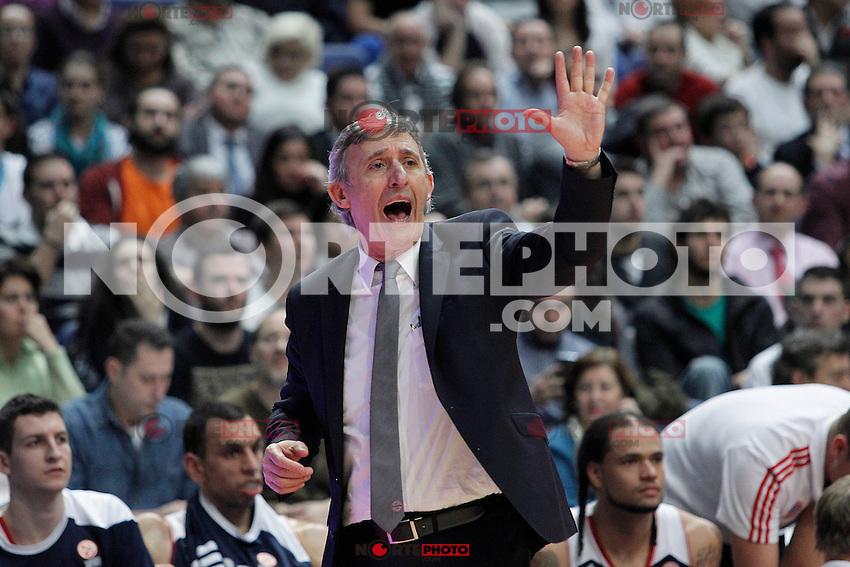 Basket Bayern Munich´s coach Svetislav Pesic during Euroleague Basketball match in Palacio de los Deportes stadium in Madrid, Spain. January 15, 2014. (ALTERPHOTOS/Victor Blanco)