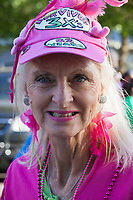 Cancer Survivor wearing Pink, Susan G Komen Race for The Cure, Seattle, WA, USA.