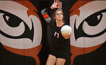Edwardsville's Storm Suhre serves against O'Fallon at Edwardsville High School on Tuesday October 2, 2018. Tim Vizer/Special to STLhighschoolsports.com