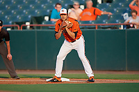 Bowie Baysox first baseman Ryan Ripken (22) during an Eastern League game against the Richmond Flying Squirrels on August 15, 2019 at Prince George's Stadium in Bowie, Maryland.  Bowie defeated Richmond 4-3.  (Mike Janes/Four Seam Images)