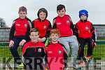 Padraig Carig, Sean Wrenn, Micheal Flaherty, Conor Egan, Kaylan Moriarty  and Fionn Egan watching  the Tarbert V  St. Senans   in the The Bernard O'Callaghan Memorial Senior Football Championship 2016 Semi Final against St. Senans at Frank Sheehy Park, Listowel on Sunday