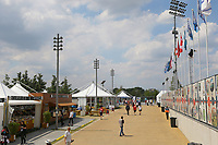 Lee Valley hockey and tennis centre , the street market food stalls, during the Hockey World League Semi-Final match between Pakistan and India at the Olympic Park, London, England on 18 June 2017. Photo by Steve McCarthy.