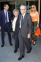 Antonio Garrigues Walker visits San Isidro funeral home following the death of Miguel Boyer in Madrid, Spain. September 29, 2014. (ALTERPHOTOS/Victor Blanco) /nortephoto.com