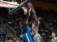 Jabari Bird of California tries to rebound the ball away from Tony Parker of UCLA during the game at Haas Pavilion in Berkeley, California on February 19th, 2014.  UCLA defeated California, 86-66.