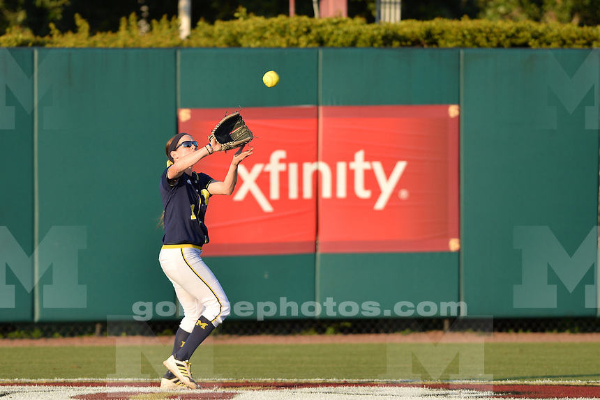 The University of Michigan defeat Florida State U. 17-3 in their first meeting of the 2014 NCAA Super Regional Softball Championship, Tallahassee, FL. May 22, 2014