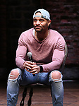 """Terrance Spencer during the Q & A before The Rockefeller Foundation and The Gilder Lehrman Institute of American History sponsored High School student #EduHam matinee performance of """"Hamilton"""" at the Richard Rodgers Theatre on 4/03/2019 in New York City."""