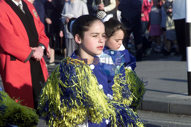 Majorettes who took part in the May Day Procession..Picture Paul Mohan Newsfile