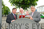 The Alfred O'Rahilly Lecture: Dr.  Michael Murphy, President Of University of Cork, Professor John A Murphy & Mr. Dens Brosnan, former CEO of Kerry Group who spoke at the Alfred O'Rahilly lecture in St. John's Arts Centre, Listowel on Monday evening last.