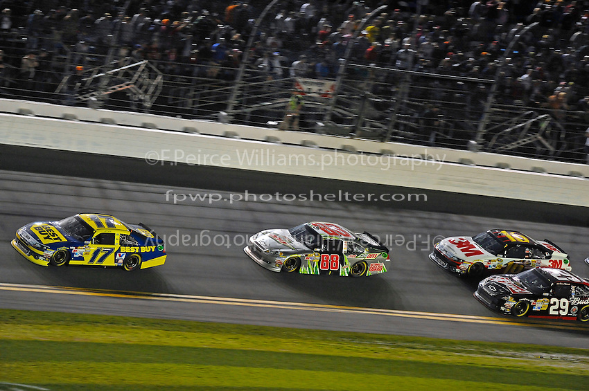 Matt Kenseth (#17), Dale Earnhardt,Jr. (#88), Kevin Harvick (#29) and Greg Biffle (#16).