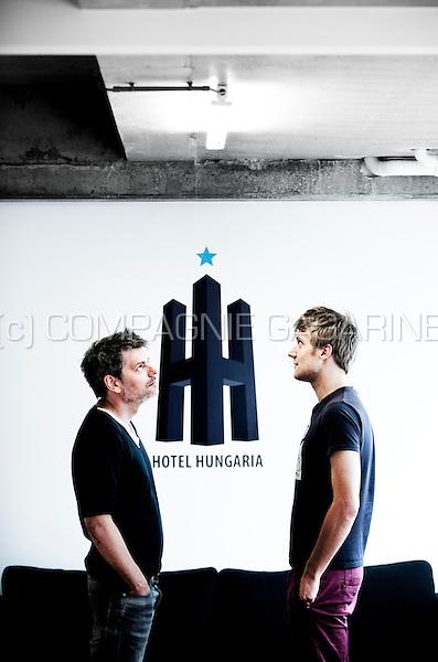 Bart Verbeelen and Nico Van De Velde, founders of the Hotel Hungaria production company (Belgium, 11/06/2013)